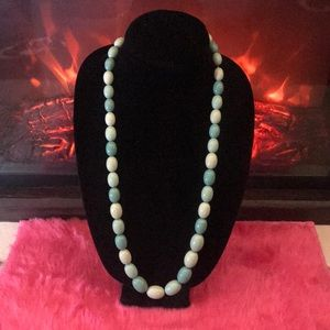 """Jewelry - 30"""" Shades of Green Necklace"""